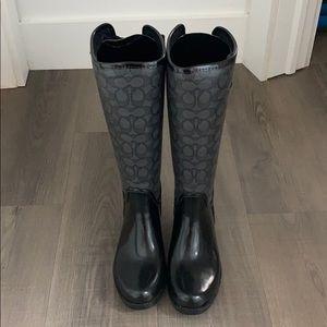 COACH RAIN BOOTS BLACK
